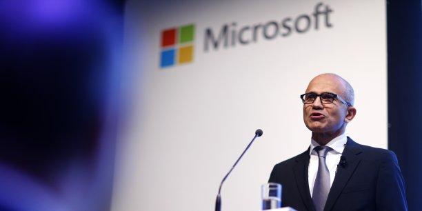 Satya Nadella, Pdg de Microsoft, a l'ambition d'en faire un leader dans les services de cloud, notamment pour les entreprises.