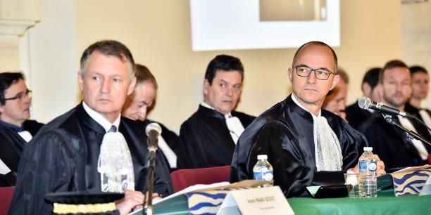 Le vice-président Jean-Noël Gout et le président Jean-François Monteils