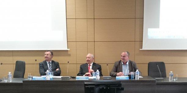 Alain Berlioz-Curlet, Jean-Paul Mauduy et Gilbert Guignand.
