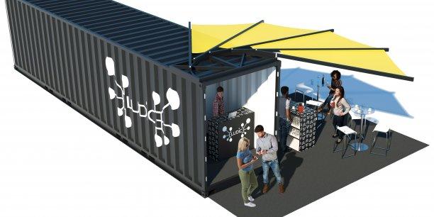 Eludice travaille à la création de son propre escape game aménagé dans un container et accessible aux joueurs non-voyants.