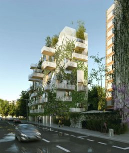 Le projet lauréat de 3 immeubles comprendra 70 lots composés de 44 logements en accession libre, 22 logements sociaux et 4 commerces.