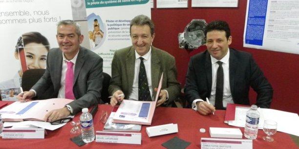 Stéphane Mathieu, Michel Laforcade, Christophe Baptiste