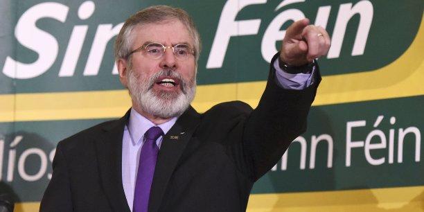 Gerry Adams, le leader du Sinn Féin, sera le trouble-fête des élections irlandaises