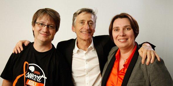 Gilles Guirand, Pierre Deniset et Françoise Nauton-Inglis, co-fondateurs de Kaliop. (Crédits : Kaliop)