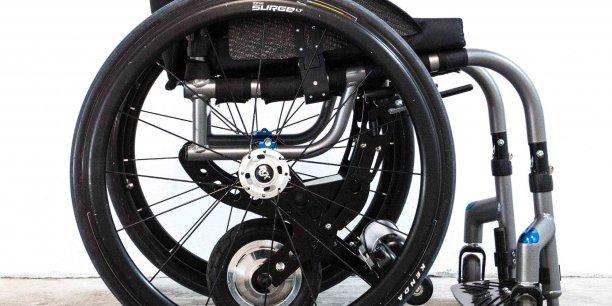 Avec Yomper, système amovible de motorisation électrique de fauteuils roulants, Acekare présente une solution innovante originale.