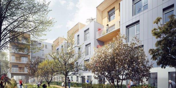 Un projet d'immeubles en bois à Montreuil (93), conçu par le promoteur REI.