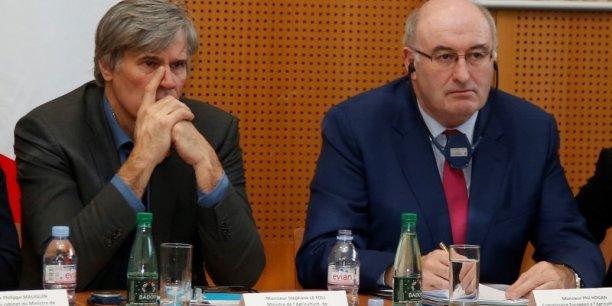 Le ministre français de l'Agriculture, Stéphane Le Foll, et le commissaire européen à l'Agriculture Phil Hogan sont en négociations aujourd'hui à Bruxelles.