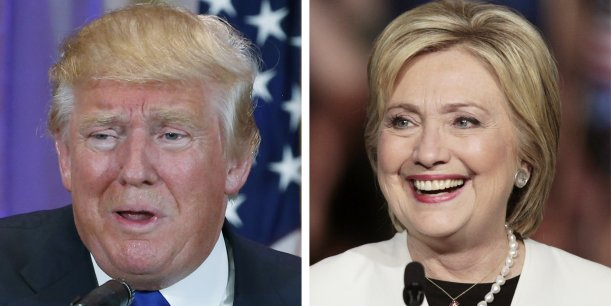 Donald Trump et Hillary Clinton.