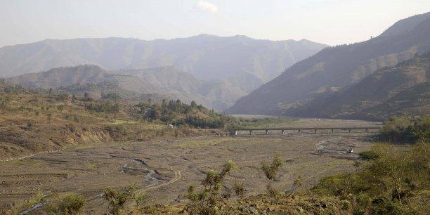 Rivière asséchée dans la région d'Amhara, au nord de l'Ethiopie, le 1er mars 2016.