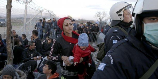 A la frontière entre la Grèce et l'ancienne république yougoslave de Macédoine, mercredi 2 mars 2016.