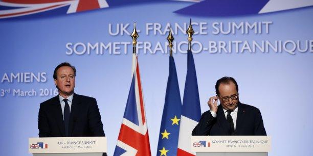 Le 34e Sommet franco-britannique de ce jeudi 3 mars était notamment consacré aux questions de défense. L'investissement commun devrait bénéficier à BAE System, Selex ES et Rolls Royce côté britannique, et à Dassault Aviation, Snecma (Safran) et Thales, côté français.