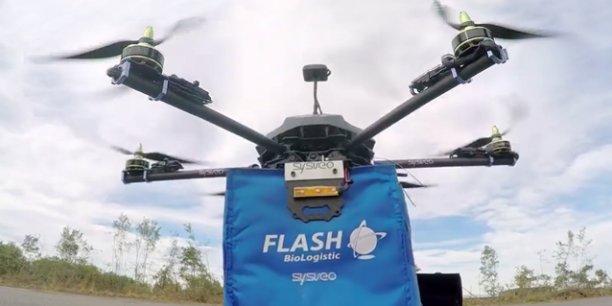 Dès les autorisations obtenues, le consortium lancera, sans doute cet été à Bordeaux, les premiers vols tests en conditions réelles du drone transporteur de produits de santé urgents