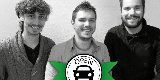 Les trois étudiants de l'IAE de Grenoble lancent leur plateforme de covoiturage local et gratuit.