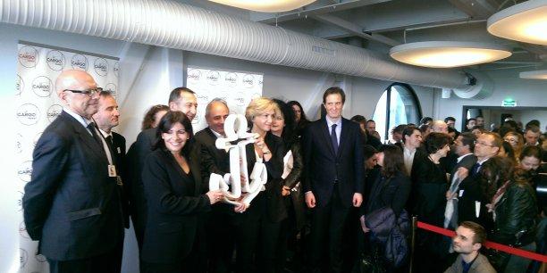Anne Hidalgo, la maire de Paris, lors de l'inauguration du Cargo, en novembre 2015, un incubateur de Paris&Co.