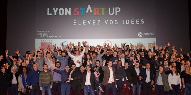 Les 100 porteurs de projets réunis lors de la rentrée de la 3e édition de Lyon Startup.