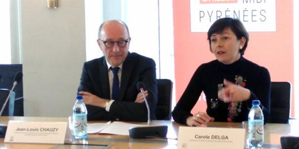 Jean-Louis Chauzy, président du Ceser LRMP, et Carole Delga, présidente de Région