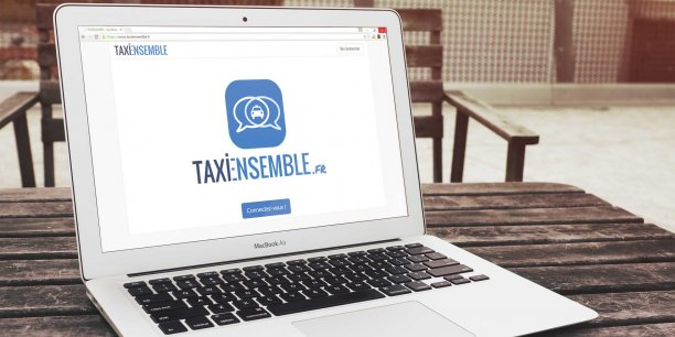 TaxiEnsemble, l'application qui veut faire co-voiturer les clients professionnels des taxis.
