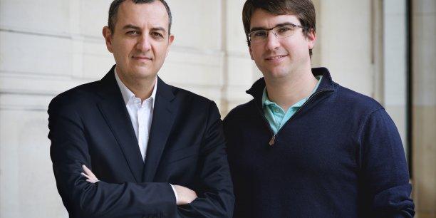 David Guez (à gauche), fondateur de l'association democratech et initiateur du mouvement citoyen LaPrimaire.org.