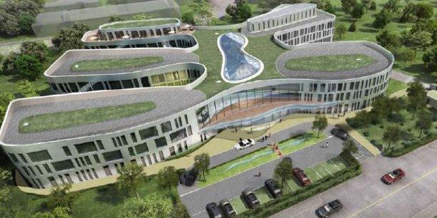 Le futur siège social de Blédina à Limonest.