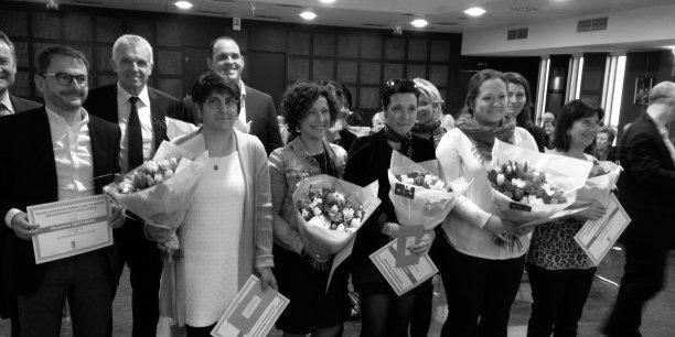 Les lauréates lors de la cérémonie de remise des prix