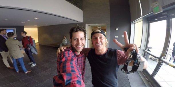 Romain Corraze, lors de sa journée au siège social de GoPro en Californie.