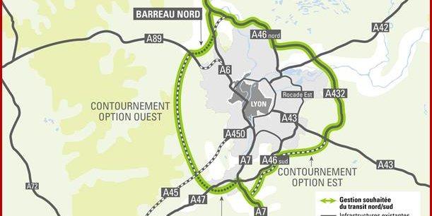 Pour le contournement de l'agglomération, deux options sont avancées.