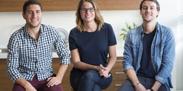 Les deux fondateurs de l'entreprise toulonnaise Seagale et la designer de la marque.