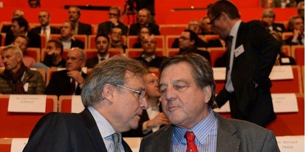 Emmanuel Imberton, président de la CCI Métropolitaine, et François Turcas, président de la CGPME Rhône.