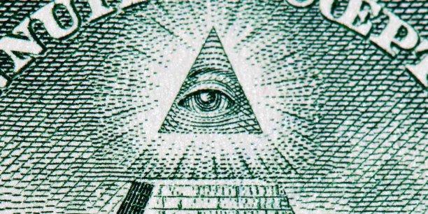 Agrandissement d'un billet d'un dollar américain.