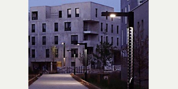 L'éclairage urbain de Technilum, sur le Campus Urbain de Paris Saclay.