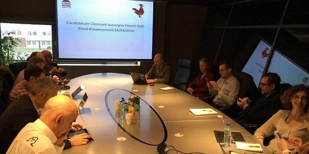 Le 24 mars dernier, lors du comité de pilotage Clermont Auvergne French Tech.