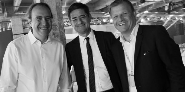Xavier Niel, Nicolas Dufourcq et Patrice Bégay lors de la première édition de Bpifrance Inno Génération