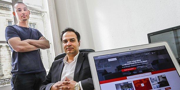 Vivien Cazaubon et Edy Abboud, fondateurs de Vanted, startup retenue dans la 7e promotion de l'Auberge numérique