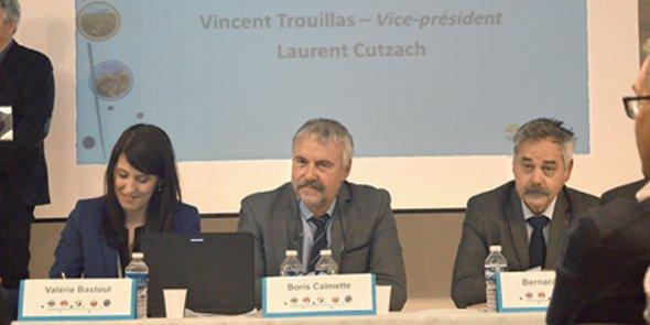 Boris Calmette (au centre), président de Coop de France LR
