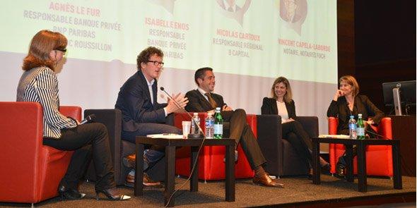 Pascale Besses-Boumard (Wansquare), Vincent Capela-Laborde (Notaires Foch), Nicolas Cartoux (B Capital), Isabelle Enos (B Capital), et Agnès Le Fur (BNP Paribas).