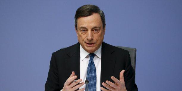 Le président de la BCE, Mario Draghi, n'a pa exclu le recours au mécanisme de l'helicopter money