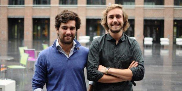 De gauche à droite, Neville Ricour et Simon Ryckembusch fondateurs de Ouistock