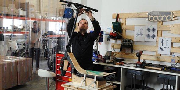 La trottinette Lab'Elle est montée dans les ateliers d'Airlab Industrie, à Nîmes.