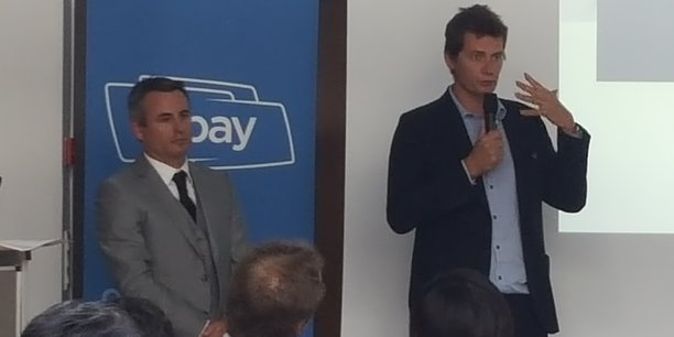 Benjamin Jayet et Cyril Zimmermann à l'assemblée générale de HiPay, lundi 2 mai.