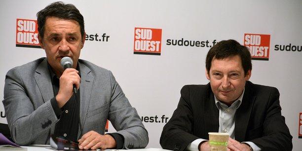 Patrick Venries, au micro, et Olivier Gerolami