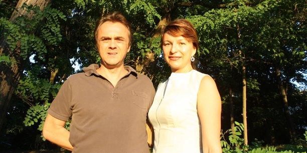 Loïc Sibrac et sa compagne Inga à Kiev : L'Ukraine est un marché important, à la frontière entre l'Europe et l'Asie.