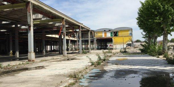 La friche industrielle située dans le 7e arrondissement de Lyon est en cours de réhabilitation.