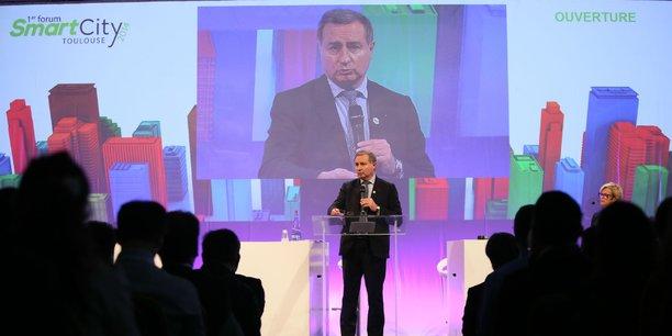 Le président de Toulouse Métropole Jean-Luc Moudenc lors du forum Smart City Toulouse en décembre 2014
