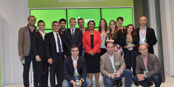 Les lauréats de la précédent édition du concours énergie intelligente, en décembre 2015.