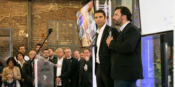 Fabrice Lorente président de l'UPVD et Éric Fourcada pour le lancement du pure player MIRO+