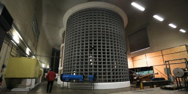 La soufflerie de l'Institut de mécanique des fluides de Toulouse.