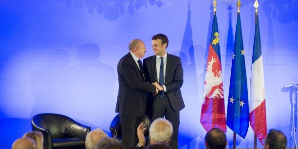 Gérard Collomb et Emmanuel Macron, ce jeudi 2 juin à Lyon.