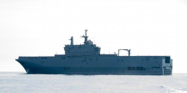 Le BPC Gamal Abdel Nasser avec à son bord 180 marins formés à Saint-Nazaire depuis février dernier, quittera Saint-Nazaire dans les prochains jours