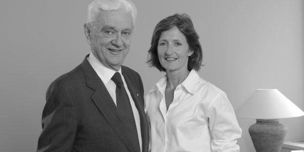 Bernard Maurel et Lucie Maurel Aubert, respectivement PDG et vice-président directeur général délégué de la Compagnie Financière Martin Maurel.