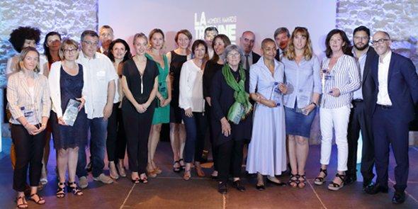 Les lauréates et partenaires de la soirée LTWA, le 7 juin 2016 au Domaine de Verchant.